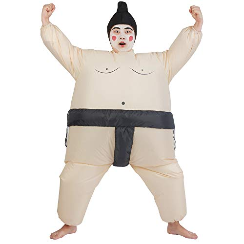 ATDAWN Inflatable Kids Sumo Wrestler Wrestling Suits, Inflatable Costumes, Halloween Costume, Blow Up Costume, One Size Fits Most