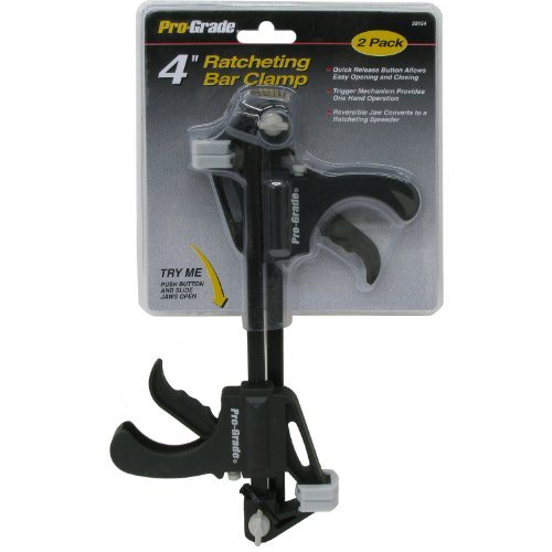Pro Grade 59154 Mini Ratcheting Bar Clamp, 4-Inch, 2-Pack