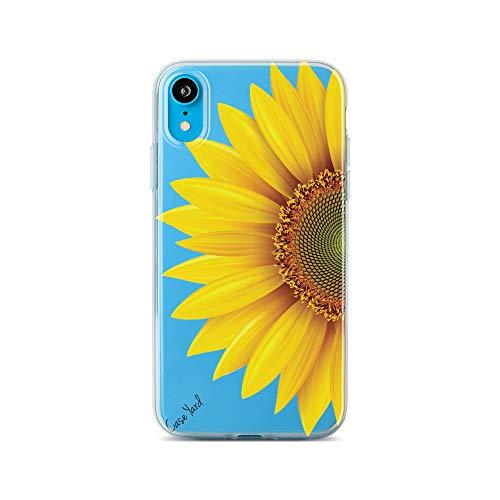 iPhone Xr Cases Clear Case Yard iPhone Xr Case Slim Fit Xr iPhone Case Clear Sun Flower Case Soft & Flexible TPU Ultra-Thin Shockproof Transparent Girls and Women Cute Cover Xr Phone Case (Sun Flower Case)
