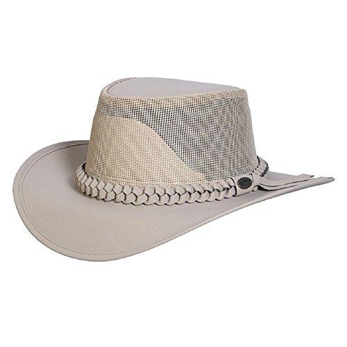 Protection Cowboy Sun (Conner Hats Men's Aussie Golf Soakable Mesh Hat, Sand, L)