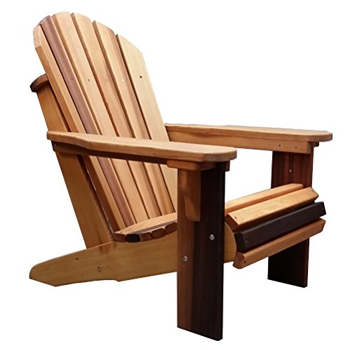 remium Western Red Cedar Adirondack Chair (Rosewood Oil Finish) (Outdoor Western Chair)