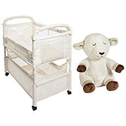 Arm\'s Reach Concepts Co-Sleeper Mini Clear Vue Bassinet with BONUS Sheep Sound Soother