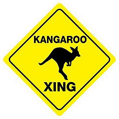 Sign Kangaroo Road (Weytff Kangaroo Crossing Road Sign Funny Metal Sign Good for Indoor and Outdoor Display 12X12 Inches)