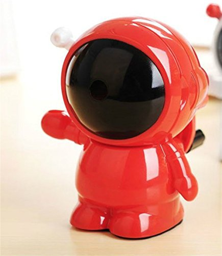 - Convenient Pencil Sharpener Carton Style Astronaut Pattern Pencil Sharpener Hand Crank Manual Desktop School Stationery for Child Student Study