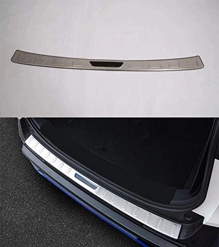 1Pcs ABS Stainless Steel Car Rear Door Tailgate Trunk Lid Protection Car Rear Bumper Guard Trunk Edge Trim Cover for Toyota RAV4 RAV-4 2019-2020 Momoap
