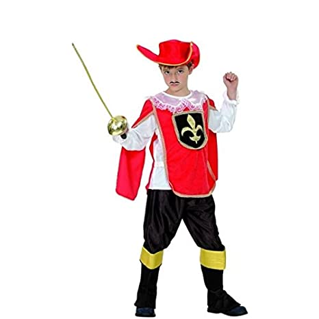 Costume Moschettiere rosso bambino 4 6 anni (104 116)  Amazon.it ... 56b059033e42