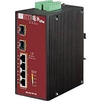 UTC Fire & Security 4-Port Gigabit PoE+ to 2-Port SFP Industrial Media Converter MC352-4P-2S
