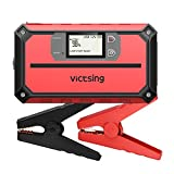VicTsing Portable Car Jump Starter 1000A Peak 20800mAh (Up to 8.0L Gas, 6.0L Diesel Engine), 12V Auto Battery Booster,5 in 1 Compact Power Pack with QC3.0 Output, Built-in Compass and LED Light