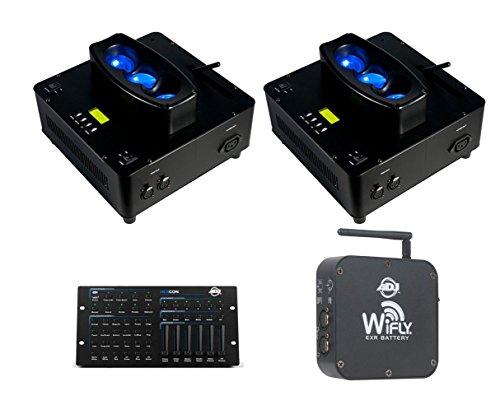 2x American DJ WiFLY Chameleon + DMX Controller + Wireless DMX Transmitter/Receiver by American DJ