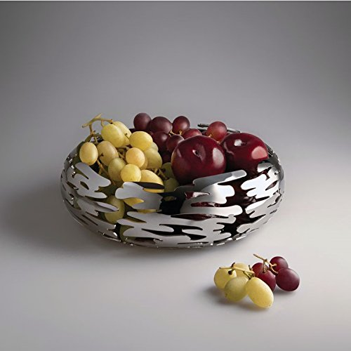 Alessi Barknest Fruit Basket 8.25'', Stainless Steel Polished by Alessi (Image #1)