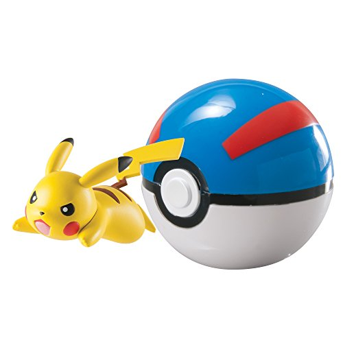 Pokémon Clip 'N' Carry Poké Ball, Pikachu and Great Ball