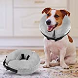 Fancar Protective Inflatable Cone Collar for Dogs and Cats - Adjustable Soft Pet