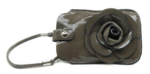 Scarleton Patent Faux Leather Rose Wristlet H303303 – Light Khaki, Bags Central