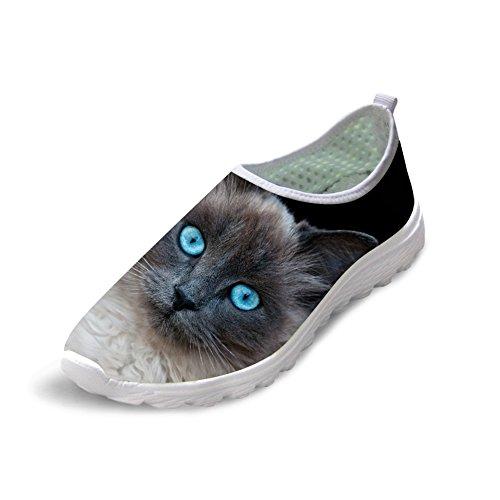 Voor U Ontwerpen Gepersonaliseerde Dierenhond Cat Print Dames Heren Dagelijkse Casual Wandelschoenen Maat Us5-us12 Cat-2