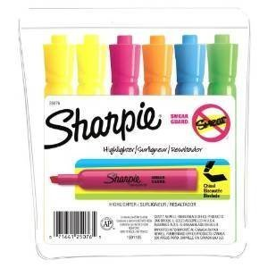 Sharpie Accent Tank-Style Highlighters, 6 Colored Highlighters (25076) Case of 72 Packs by Sharpie