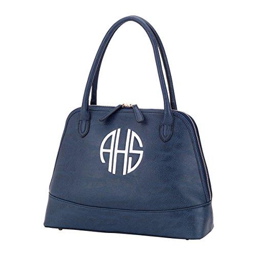 Monogrammed Navy Sidney Handbag Personalized