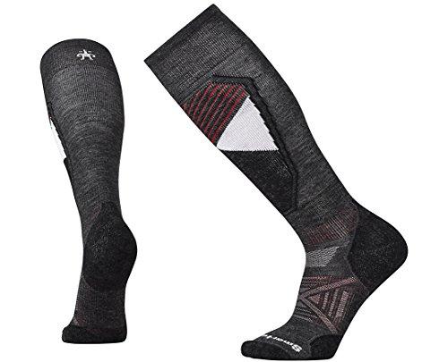 Smartwool Mens Ph D Snowboard (Smartwool Men's PhD Ski Light Pattern Socks (Charcoal) X-Large)