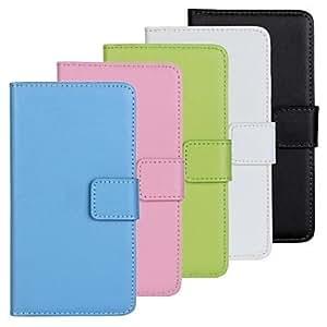 Teléfono Móvil Samsung - Carcasas de Cuerpo Completo - Color Sólido - para Samsung Galaxy Mini S5 ( Negro/Blanco/Verde/Azul/Rosado , Cuero PU ) , Blue