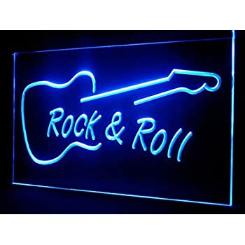 Amazon.com: ADVPRO Rock and Roll Guitar Music LED Sign Neon ...