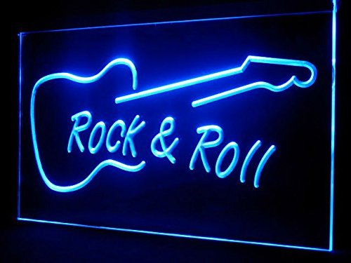 Man Cave Guitar Rock Roll LED Neon Sign - Light - Sign Led Rolls