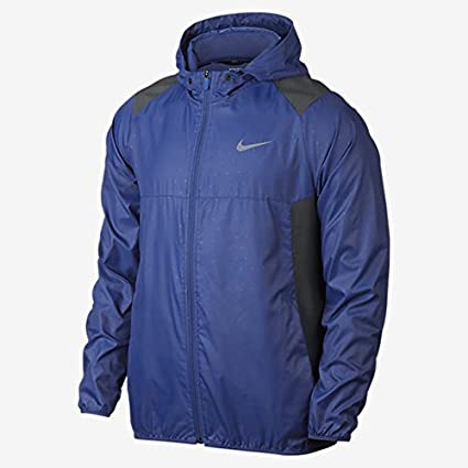 85622c4bf9 Amazon.com   Nike Printed Packable Hooded Men s Golf Jacket (Game Royal Anthracite