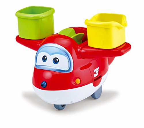 Super Wings - US721111A Fill n Spill Jett, 4-in-1 Bath Toy & Water Squirter -
