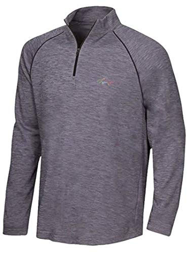 Greg Norman Mens Size X-Large 1/4 Zip Active Performance Play-Dry Wicking Pullover, Iron Gate