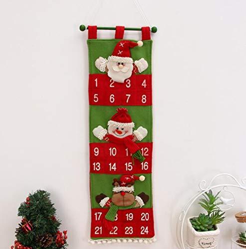Adornos Navideños Navidad Cepillado De Lana Flor Viejo Hombre Calendario Navidad Calendario Hotel Vestíbulo Familia...