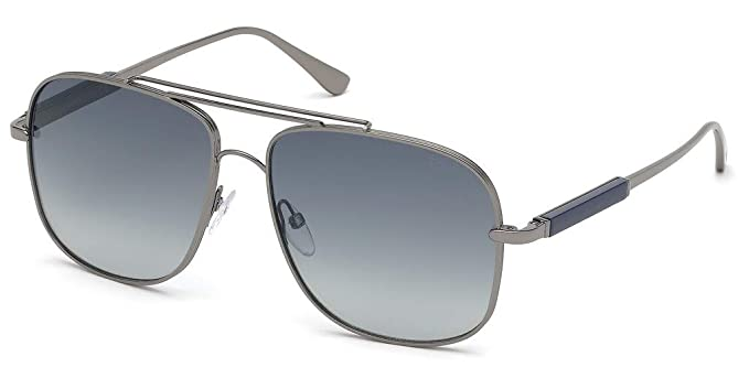 Gafas de Sol Tom Ford JUDE FT 0669 DARK RUTHENIUM/BLUE ...