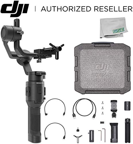 DJI 2019 Ronin-SC Compact Stabilizer 3-Axis Gimbal Handheld Stabilizer (Loki) for Mirrorless Camera Starters Bundle - CP.RN.00000040.01 (Best Advanced Compact Cameras 2019)