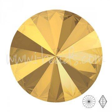 I-Beads cristallo Swarovski Rivoli 1122Crystal Metallic Sunshine 14mm (1)