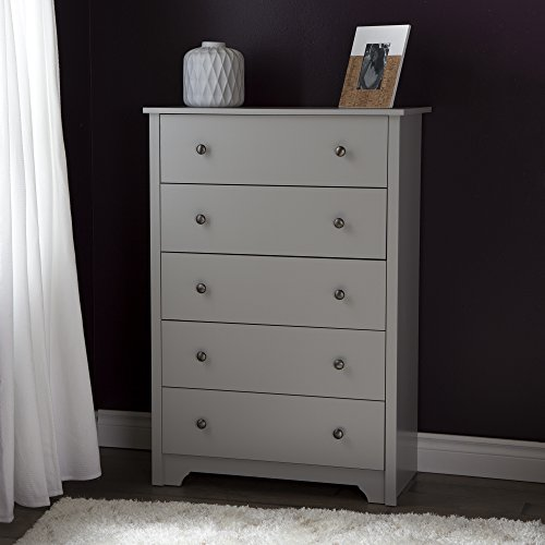 South Shore Vito 5-Drawer Chest, Soft Gray by South Shore