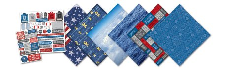 CREATIVE IMAGINATIONS Coast Guard Scrapbooking Kit