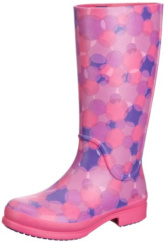 Crocs Wellie Polka Dot Boot W, Boots femme Rose (Fuchsia/Ultraviolet)