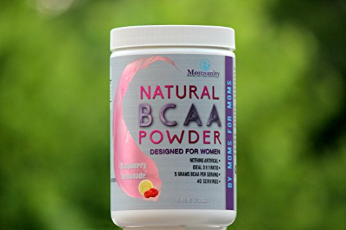 Natural BCAA Powder. Great Tasting Raspberry Lemonade Flavor. 40 Servings. Sweetened with Stevia, Erythritol, and Monk Fruit. Made by Women for Women.