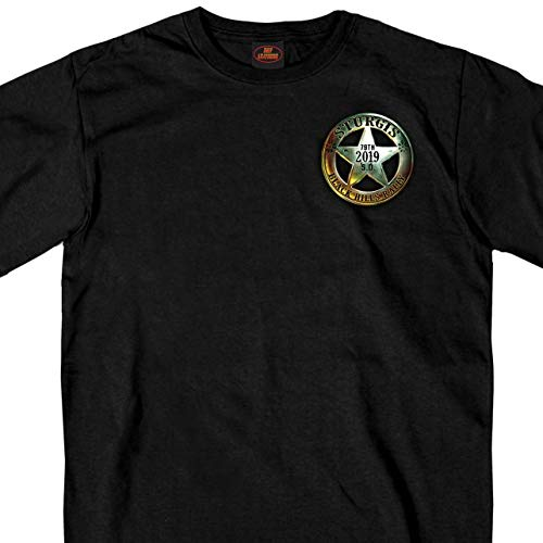 BLACK Extra Extra Extra Large Official 2019 Sturgis Motorcycle Rally Saloon T-Shirt