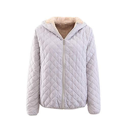 ICE Cream Women's Regular Cotton Plaid Plus Zipper Zipper Solid Color Warm Jacket