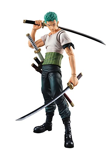 Megahouse Onepiece: Roronoa Zoro Pirate Hunter Zoro Past Blue Variable Action Hero Action Figure (Variable Action Heroes Roronoa Zoro Action Figure)