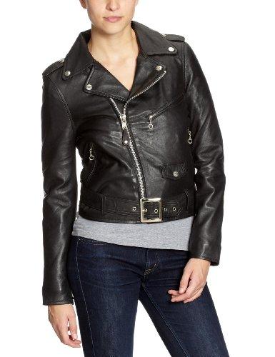 Schott NYC 8600 - Veste en cuir - Manches longues - Femme Noir (Black)