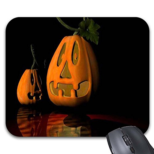 Goodaily Mousepad Halloween Wishes Funny Pumpkins Mouse Mat -