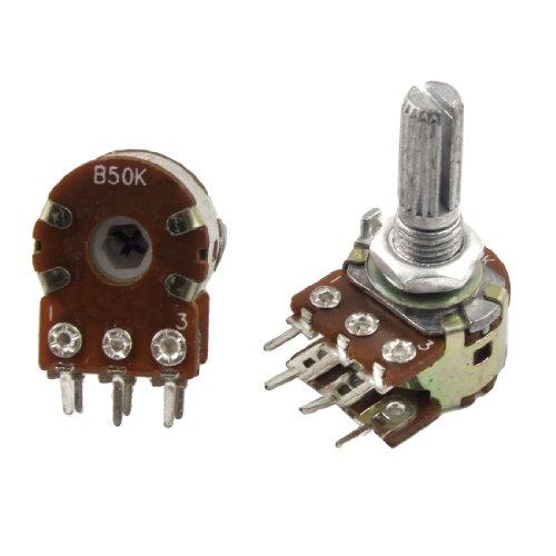 50K Ohm Dual Linear Taper 6 Pins Rotary Potentiometers Pots 5 (50k Linear Pot)