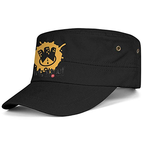 Thiodhsesd Men Womens Cadet Army Hat WingStreet Pizza Unisex Hats Relaxed