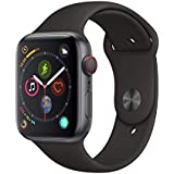 Apple Watch Series 4 (GPS + Cellular) (Renewed) (Black Sport, 40mm)