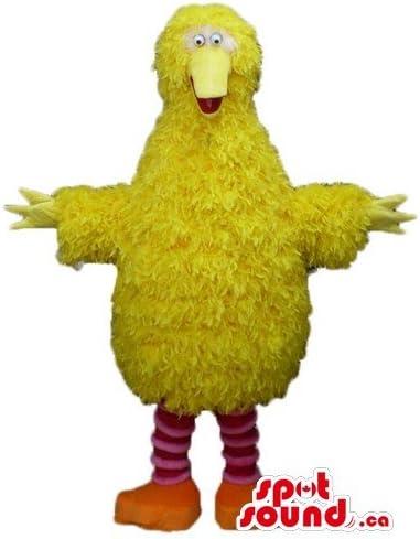 Disfraz de Barrio Sésamo de Aves Amarillas SpotSound Mascot US ...