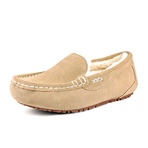 Dreams Slippers (DREAM PAIRS Women's Auzy-01 Sand Faux Fur Slippers Loafers Shoes Size 9.5-10 B(M) US)