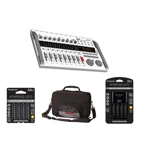 Zoom R16 - Digital Multi-Track Recorder & Mixer, - Bundle With Gator G-MULTIFX-1510 Effects Pedal Bag, Panasonic Charger with 4 Pro Eneloop AA Size Batteries, 4x Eneloop Pro AA NiMH Batteries by Zoom