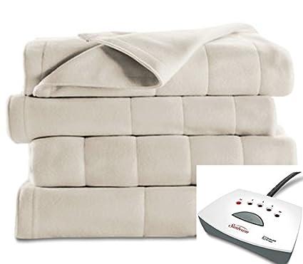 1 venta Sunbeam manta eléctrica – Extra suave forro polar manta – completo – con