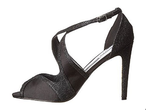 High Heeled Open Toed (Black High Heeled Sandals-Size (7.5))