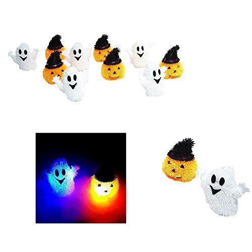 12 pack assortment -Light Up HALLOWEEN themed Puffer BALL -
