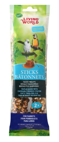 Living World Parrot Honey Treat Sticks, 4.9-Ounce